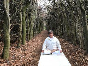 meditatie bij een klooster