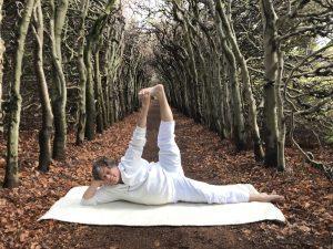 liggende yoga Deventer, asana