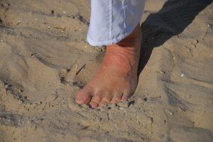 voetreflex en aarden bij de yoga