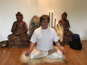 Yoga meditatie houdingen, halve lotus