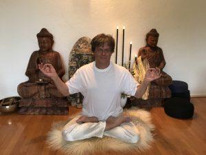 Yoga meditatie houdingen, lotus