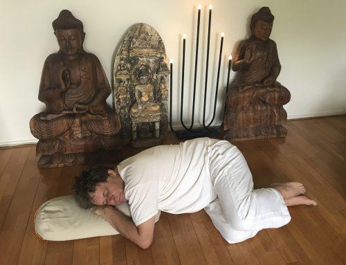 yoga boekweitkussen voor ontspannen slapen