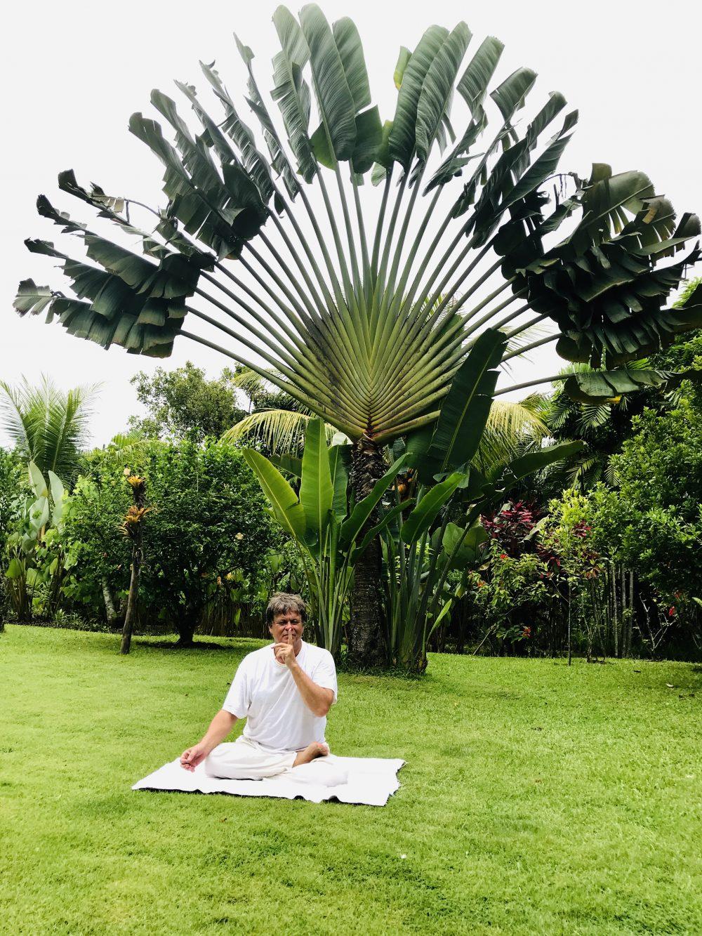 Stil zijn bij de yoga